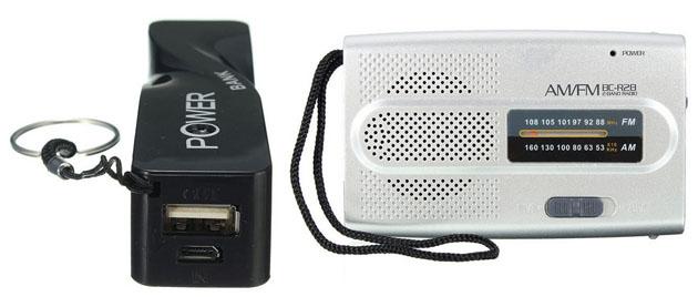 Trusa de cutremur: aparatul de radio si telefonul