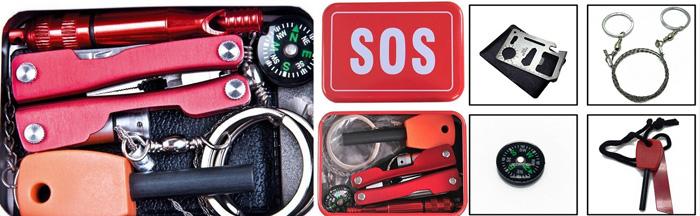 Trusa supravietuire SOS din kitul de cutremur